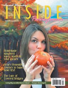 Cover Design Of Inside PA Magazine Created By Meaghan Troup And Features Her Art And Photography